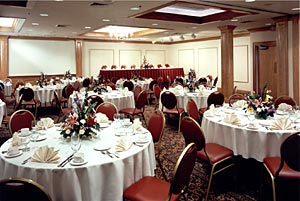 Catered events from 2 to 225 in a formal setting.
